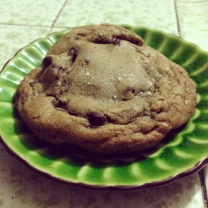 Browned-Butter Nutella Stuffed Chocolate Chip Cookies w/Sea Salt