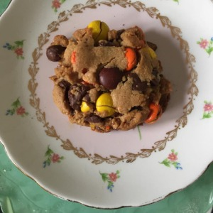 Reese's Pieces Soft Peanut Butter Chocolate Chip Cookies